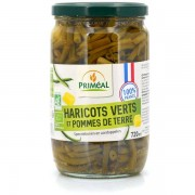 Priméal Mélange haricots verts pommes de terre bio de France - Bocal verre 720ml