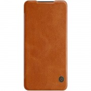 NILLKIN Qin Series Leather Card Holder Case for Huawei P30 - Brown