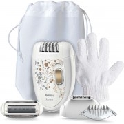 Epilator Philips Care Edition KeraBody HP6425/01, 2 viteze, 21 discuri (Alb)