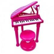 Детска играчка, Електронно пиано с микрофон, крачета и столче, 191336