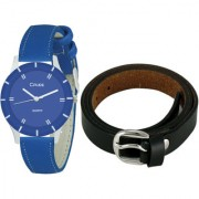 Crude Smart Combo Of Analog Watch-rg609 With Leather Belt for Women's Girl's