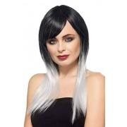 Smiffys (One Size, Grey) Smiffy's Women's Ombre Devil Wig