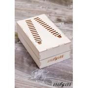 Luxusní stříbrné šle/kšandy AVANTGARD 876-9021-0