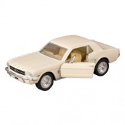 Kinsmart White 1964 Ford Mustang Die Cast Toy Car with Pull Back Action