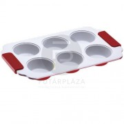 Muffin tepsi piros PH-15383