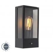 QAZQA Kinkiet zewnętrzny czarny z czujnikiem światło-ciemność - Rotterdam 1