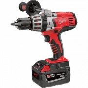 Milwaukee 28V Lithium-Ion Cordless Electric Hammerdrill Kit With 2 Batteries - 1/2Inch Keyless Chuck, 1,800 RPM, Model 0726-22