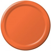 Creative Converting Touch of Color 24 Count Paper Lunch Plates, Bittersweet