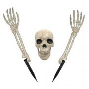 Crazy Bonez Estacas para césped, diseño de Esqueleto, 3 Piezas, Bone, Estándar