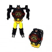 JinYin Reloj electrónico Robot deformado Transformación Manual Robot Toys Reloj Digital para niños Mayores de 3 años