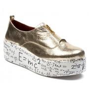 BOBERCK SINCE 1970 BOBERCK Coleccion Amelia Fashion Sneakers de Cuero Natural para Mujer (8 US, Dorado)