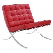 Barcelona fauteuil rood