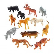 TriEcoWorld Animals Figure, 68Pcs Mini Jungle Toys Set, Zoo World Realistic Wild Vinyl Pastic Animal Learning Resource Party Favors for Boys Kids Toddlers Forest Small Farm Playset