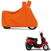 AutoAge Full Orange Two Wheeler Cover For Yo Spark