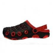 Manthan Red Rubber Crocs For Men