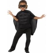 Set de accesorii de supererou negru pentru copii 4-7 ani