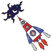 > ADESIVI MURALI REMOVIBILI - TO THE STARS - SIZE XL 68x98 WALLSKIN (unit