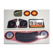 Replacement Decals Stickers Fits Little Tikes Cozy Coupe II Pink