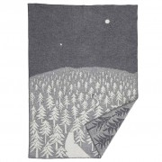 Klippan Plaid House in the Forest eco wol grijs-wit
