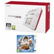 Consola Nintendo 2DS alb / rosu + Joc YO-KAI WATCH