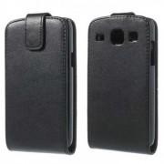 Кожен калъф с магнитна закопчалка и вертикално отваряне за Samsung Galaxy Core I8260 I8262 - черен
