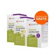 Sensilab Garcinia pacchetto: 2x Garcinia Ultra 1000 con Caffè verde e Garcinia bevanda bruciagrassi Garcinia Cambogia trio per la perdita rapida di peso