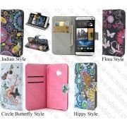 "HTC One M7 801e (калъф кожен - ""Book Color style"")"