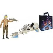 "STAR WARS Return of the Jedi Poe Dameron with Speeder Bike"" Playset + Tote GIFT PACK"