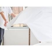 Yumeko Laken katoen satijn pure white 180x290