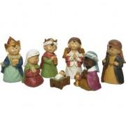 Merkloos 7x Kerststal kerstfiguren voor kids