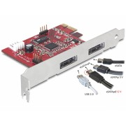 PCI Express 2 x Power Over eSATA 5V-12V, Delock 89233