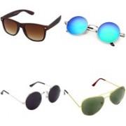 Rich Club Wayfarer, Aviator, Round Sunglasses(For Boys & Girls)