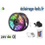 Kit bandeau LED RGB 10m SMD5050 24V DC ref KBRGB10M-1