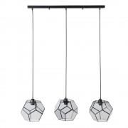 Maisons du Monde Lámpara de techo con 3 focos de metal negro y cristal ahumado