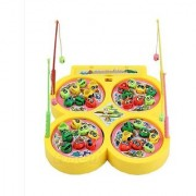 Battery Operated Fish catching Game - 4 Players Game with 4 Pools Multicolor (Color May Vary)
