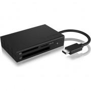 Card reader raidsonic IcyBox extern multi- cititor de carduri USB 3.0 tip C, CF, SD, microSD (IB-CR401-C3)