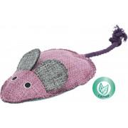 Látková myš XXL s catnipem a provazovým ocáskem 15 cm