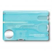 Card multifunctional SwissCard Nailcare Victorinox, albastru deschis