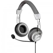 Cuffia Headset per PC USB Filo Hama Style Cuffia On Ear Nero, Argento