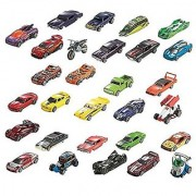 Hot Wheels Assortment 12-Car Fun Party Pack with 12 Trading Card Packs