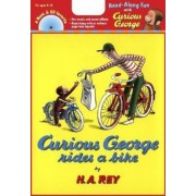 Curious George Rides a Bike [With CD (Audio)], Paperback