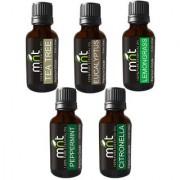 MNT Aroma Scented Fragrance Oil For Diffuser (Tea Tree Eucalyptus Lemongrass Citronella Peppermint (15ml Each)