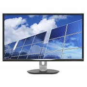 "Philips 328B6QJEB 32"" LCD Monitor, IPS Panel, 2560 x1440 Res, 60Hz, 5ms, VGA, DVI, HDMI, DP, Height/Pivot, Spkrs"