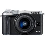 Canon Aparat CANON EOS M6 Srebrny + Obiektyw 15-45mm