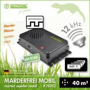 Bateriový odpuzovač kun 40m2 /18-32 kHz mobilní ultrazvukový