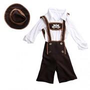 Segolike Fun Costumes Boys Little Boys' Lederhosen Boy Outfit Hat Costume - M