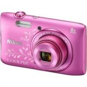 Nikon Aparat NIKON COOLPIX S3600 Różowy (z ornamentem)