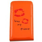 Apple Love My Phone - Orange iPhone 4/4S Skal