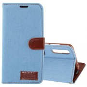 Dibase for Huawei P20 Pro Texture Horizontal Flip Leather Case with Holder & Card Slots(Baby Blue)