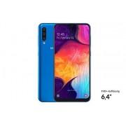 Samsung Galaxy A50 Smartphone; 16,3 cm (6.4 inch); 128GB intern geheugen; 4GB RAM; Duitse versie, blauw